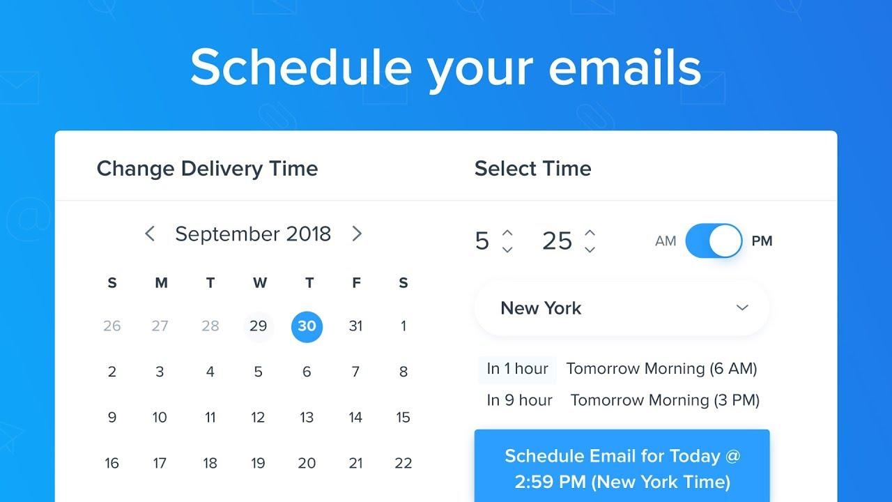 Scheduled calendar for sending E-mails | 6 Best email marketing strategies to leverage | getdigitaloffice.com