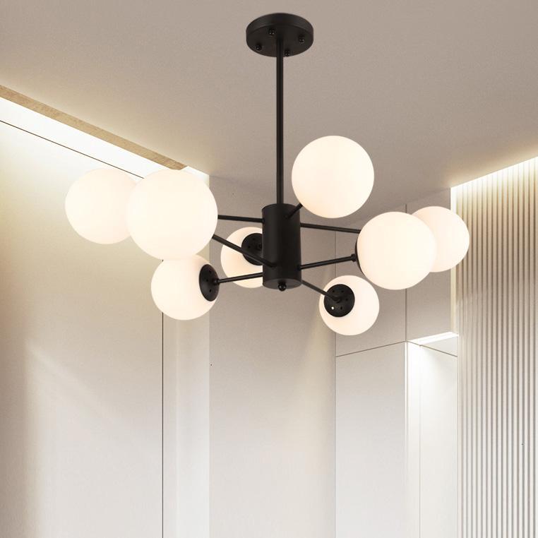 Sử dụng đèn chùm cao cấp cho không gian ngôi nhà tối giản