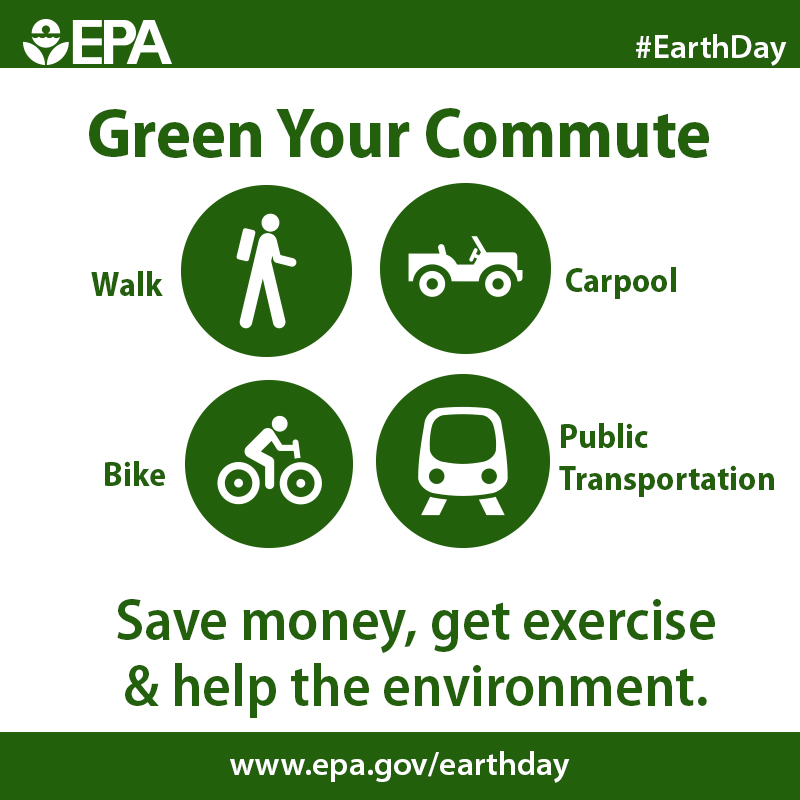 Earth Day - Green Your Commute by USEPA Environmental-Protection-Agency from Flickr.