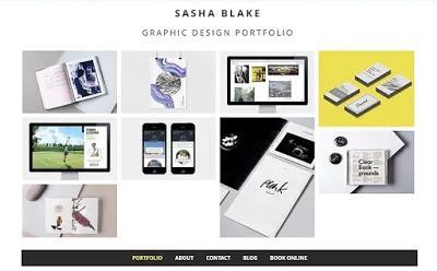 Sasha Black Graphic designer portfolio site