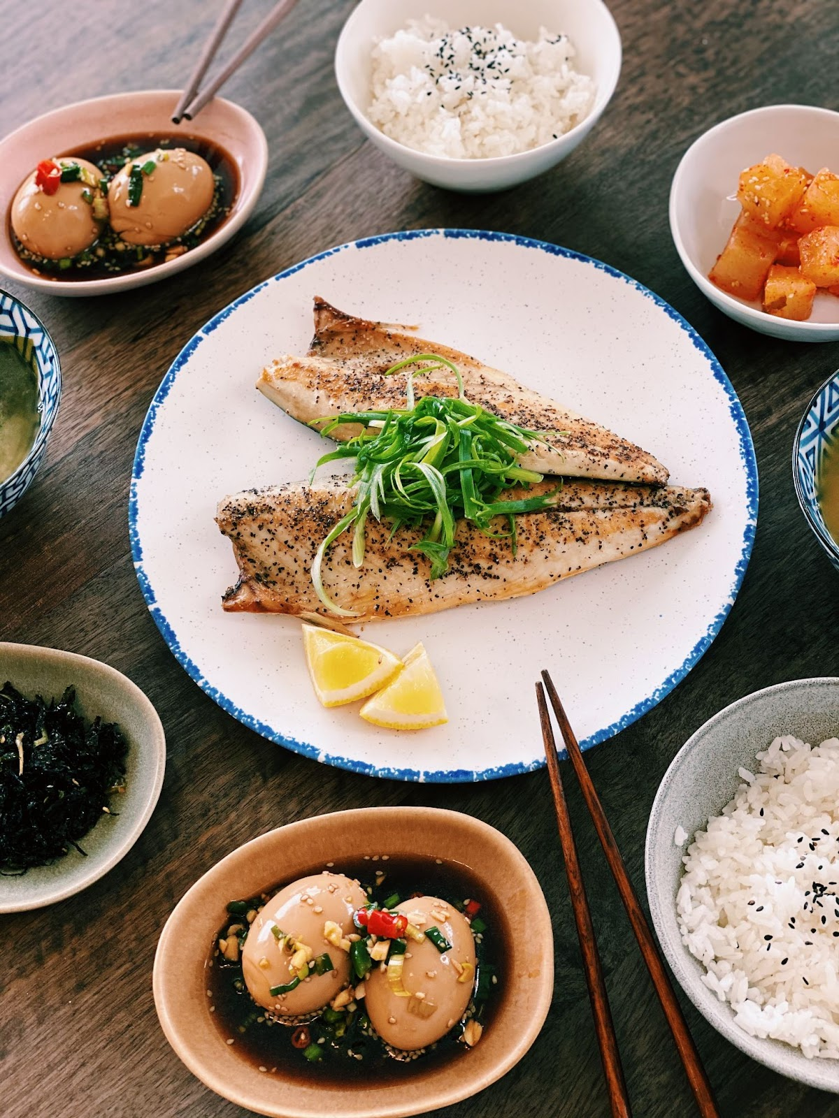 Healthy Asian dinner