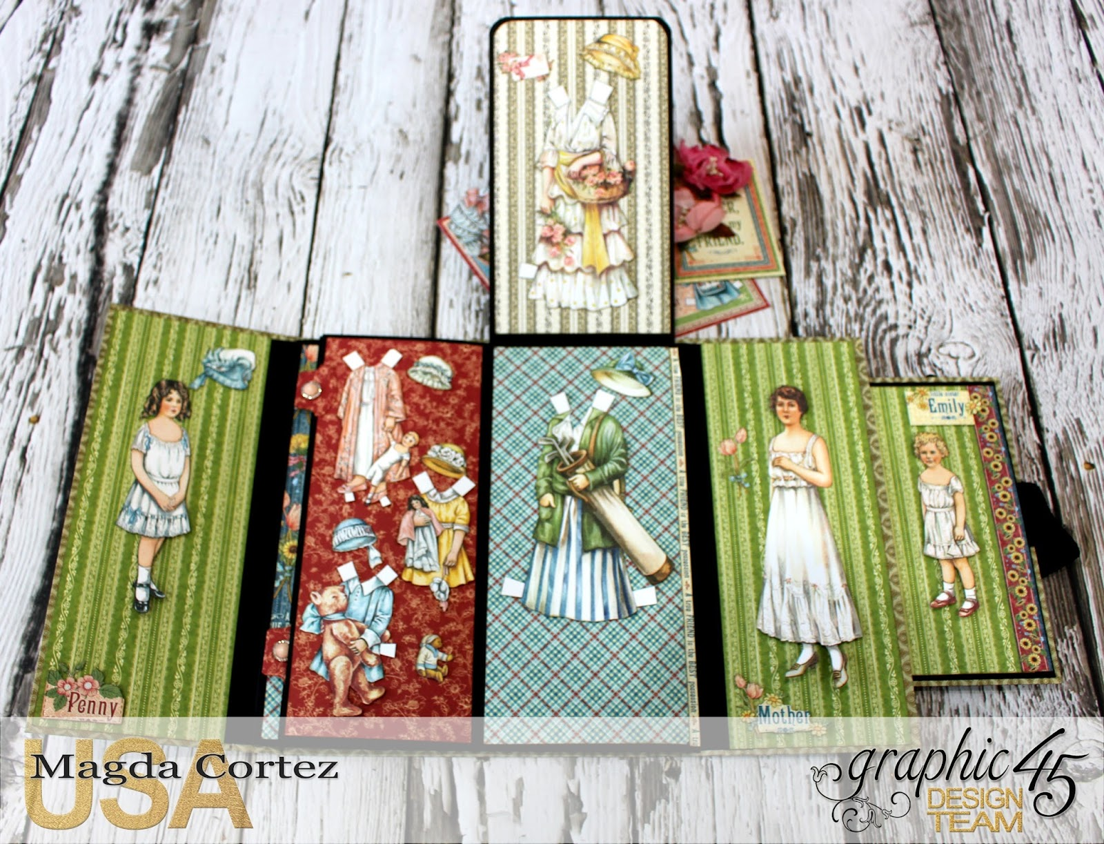 Penny's Paper Doll Family Book, Penny's Paper Doll Family, By Magda Cortez, Product of Graphic45, Photo 04 of 12.jpg
