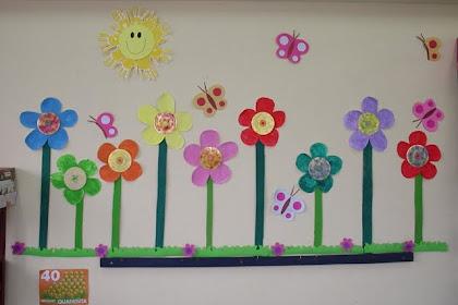 Mural Primavera Infantil Pinterest