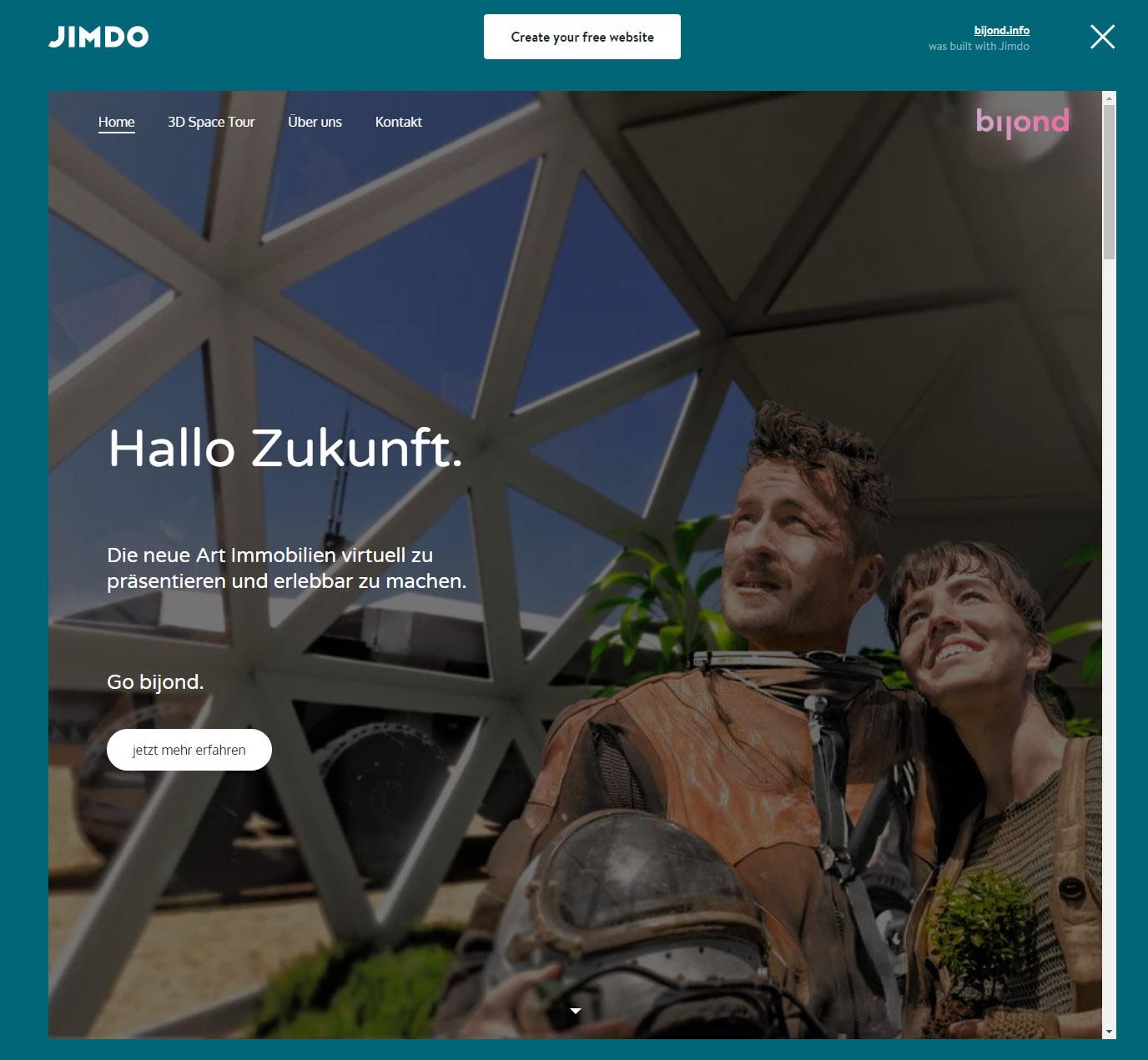 Bijond homepage