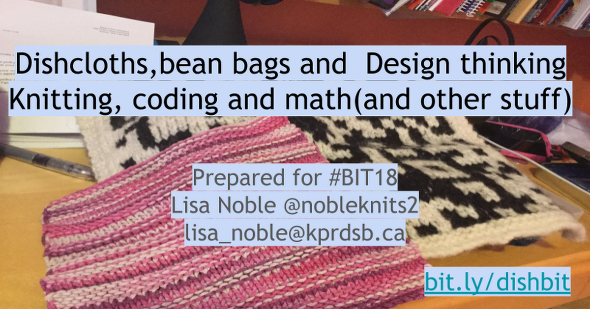 dishcloths, bean bags and design thinking