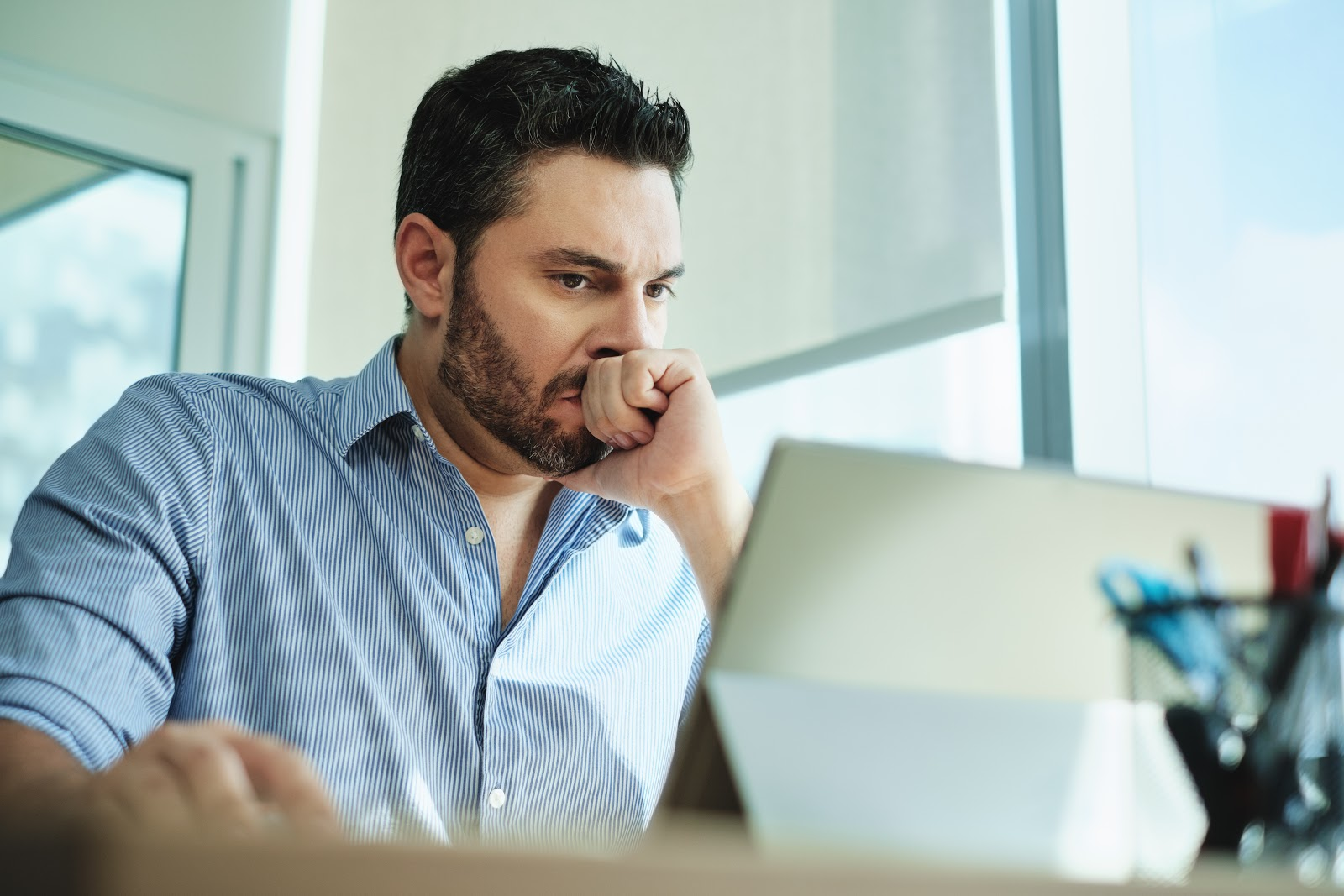 conflicten op de werkvloer boze man