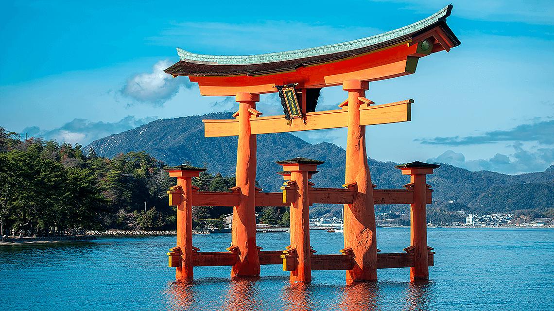 Itsukushima Jinja (shrine), Miyajima Island, Hiroshima, Japan