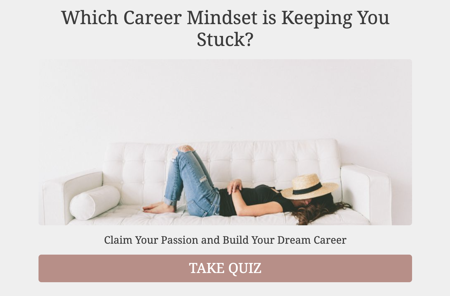 which career mindset is keeping you stuck quiz cover