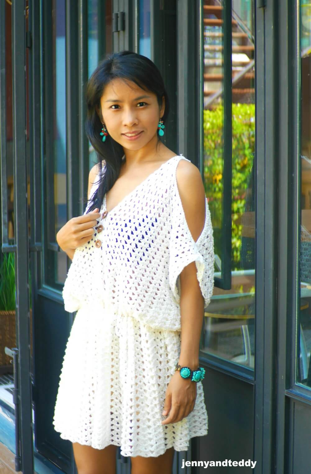 Crocheted summer dress