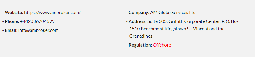 Regulation Details of AM Broker