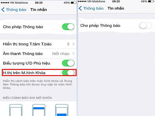 Cài đặt mật khẩu cho tin nhắn trên iPhone
