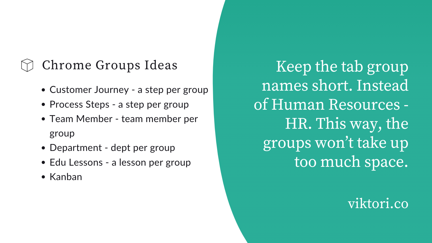google chrome tab groups examples and ideas