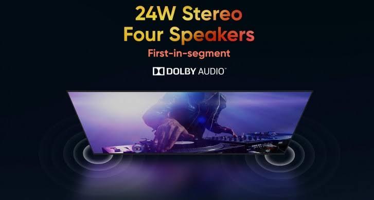 realme smart TV 32 นิ้ว ระบบเสียง