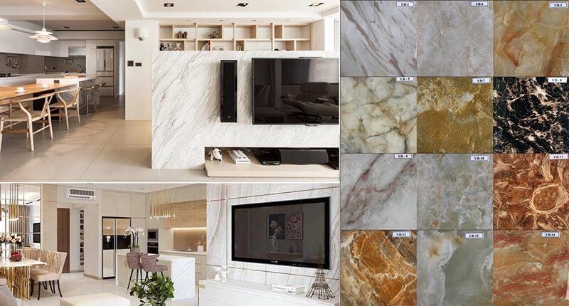 ốp đá cầu thang bằng đá marble
