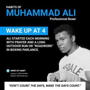 Muhammad ali habits
