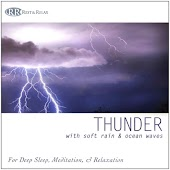 Thunder: With Soft Rain & Ocean Waves for Deep Sleep, Meditation, & Relaxation, Thunderstorm, Thunder Sounds of Thunder, Nature Sounds