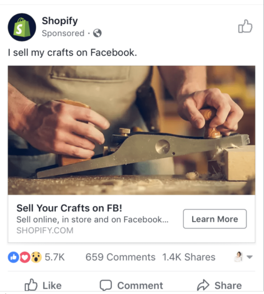 Shopify call to action examples
