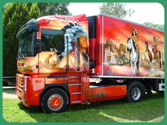 Tuning camion par adrien 1 un camion am ricain renault - Dessin de camion americain ...