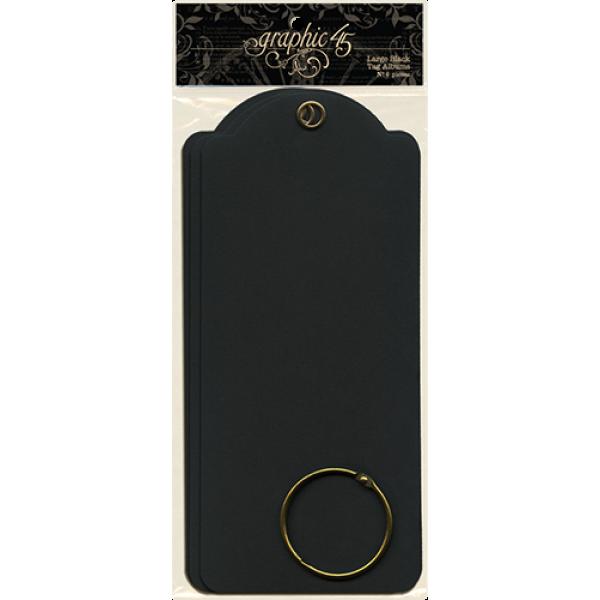 Large Tags—Black