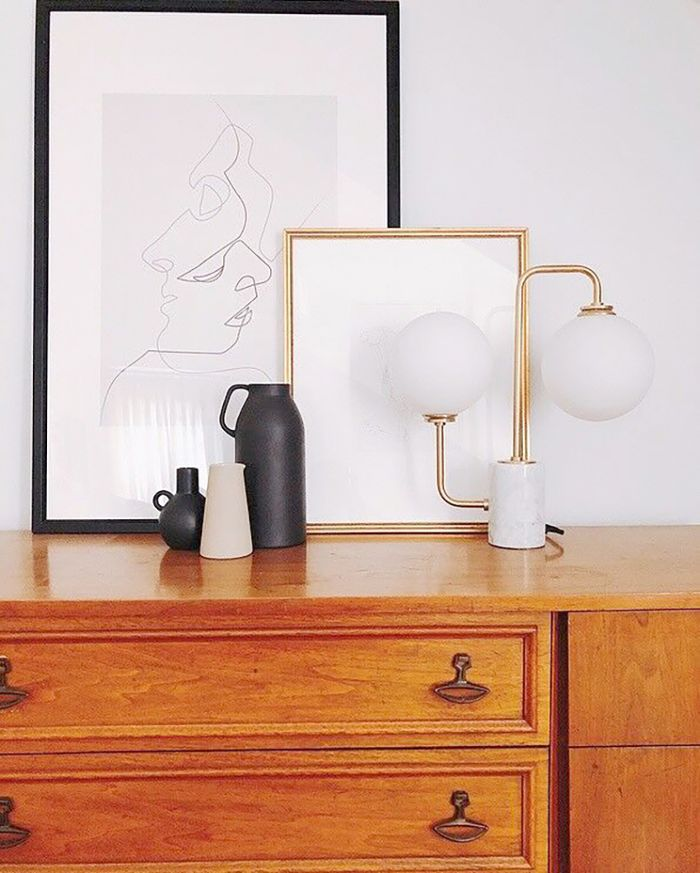 Lampu artistik sebagai elemen dekorasi - source: mydomaine.com