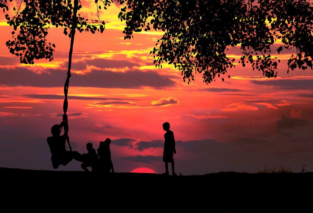 childhood in village