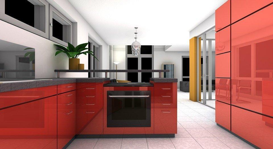 Keuken, Eetkamer, Weergave, Interieur, Appartement