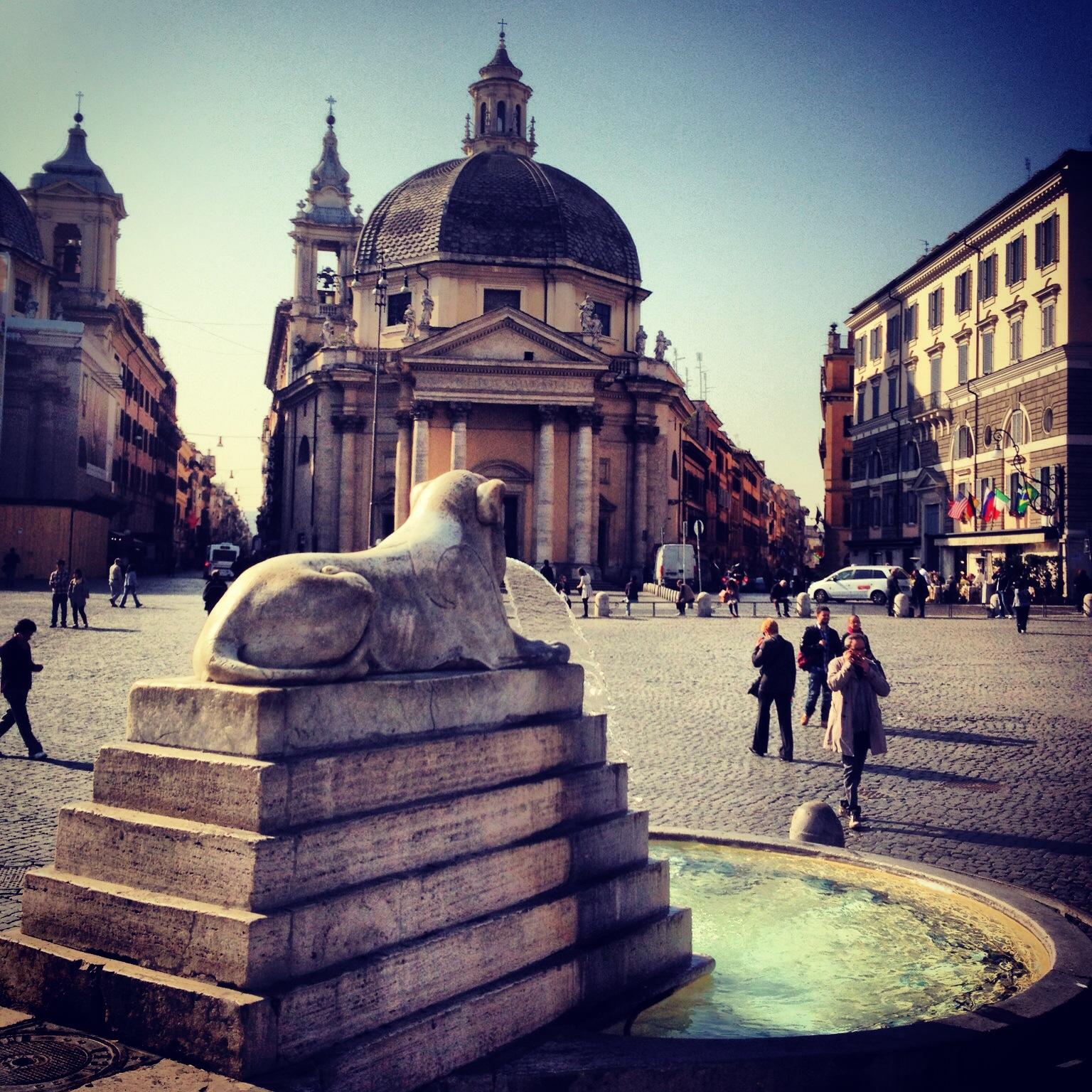 Piazza del Popolo - Fountains of Rome