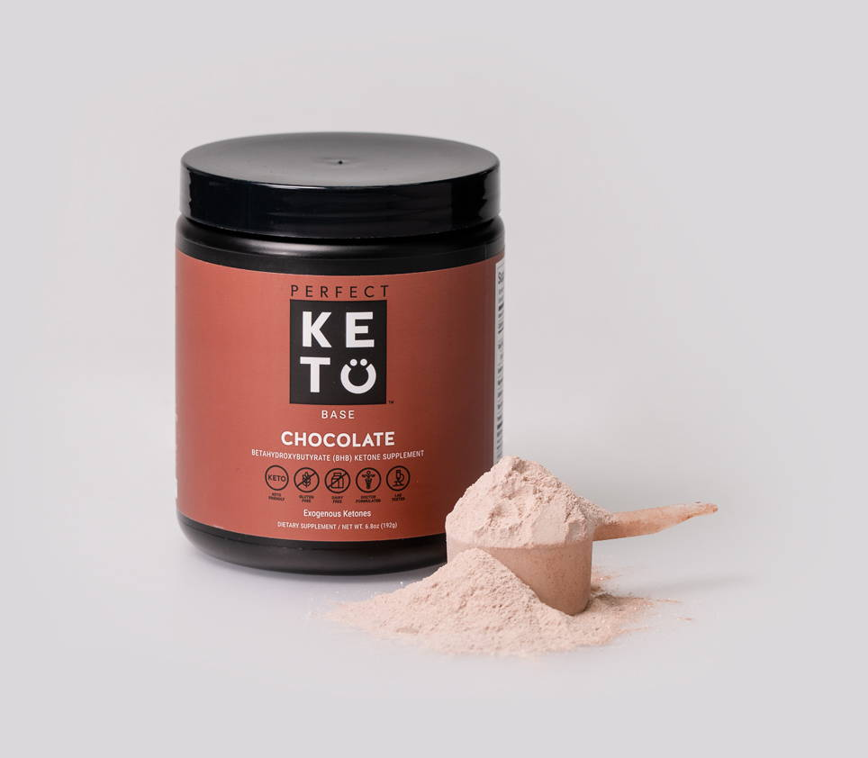 Perfect Keto's Exogenous Ketone Base subscription powered by Recharge