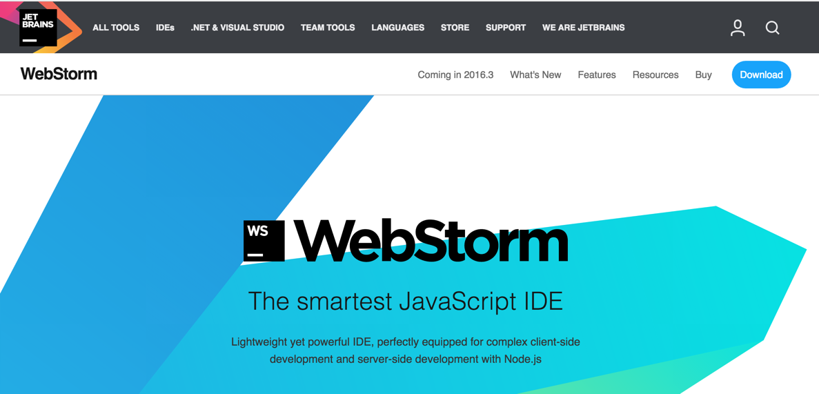 Best Node.js IDE's Webstorm
