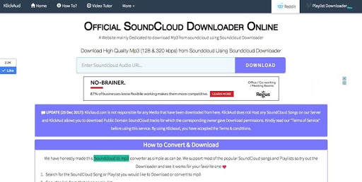 SoundCloud Downloader- KlickAud - A simple Online Tool for