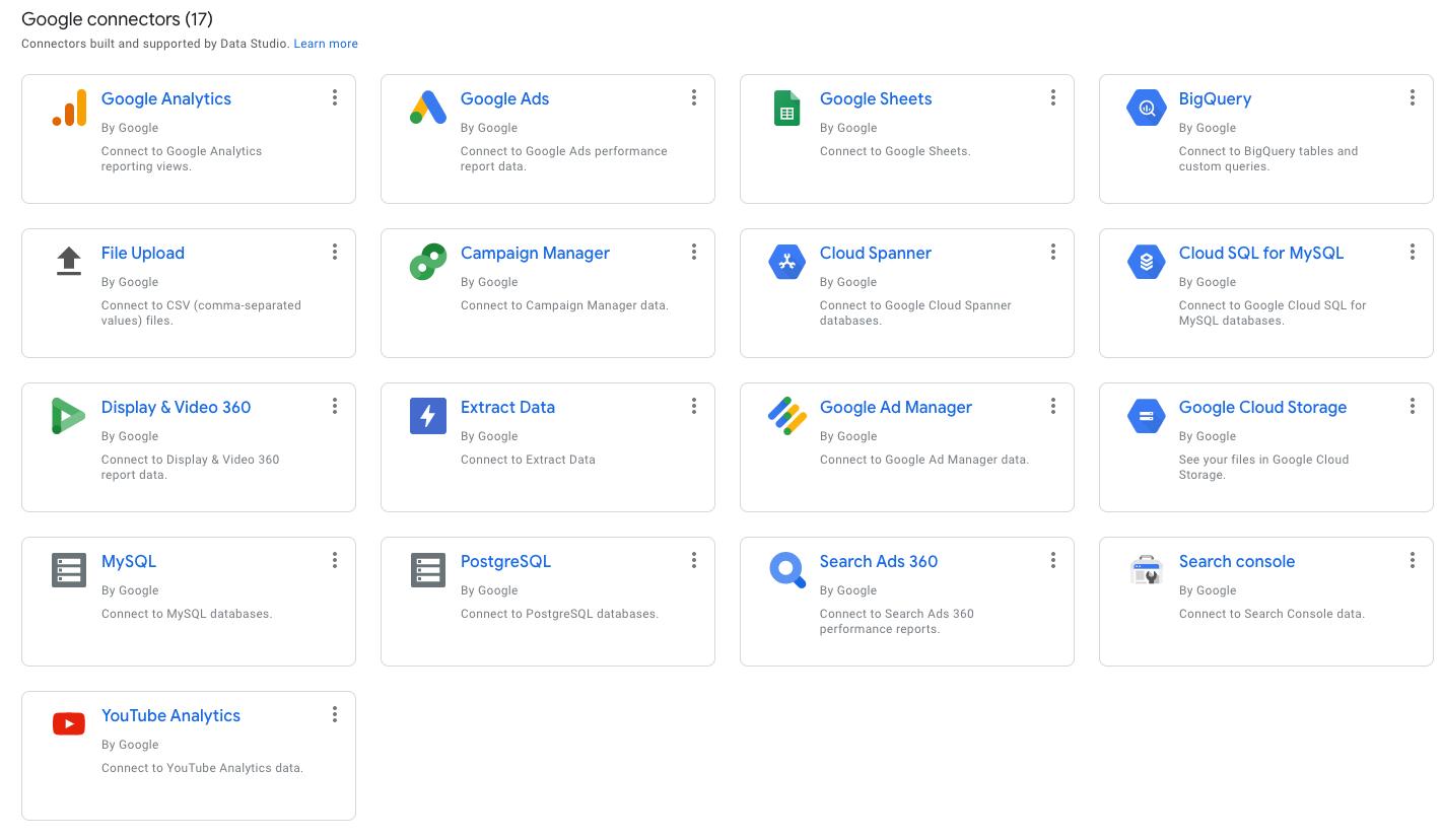 connectory google data studio