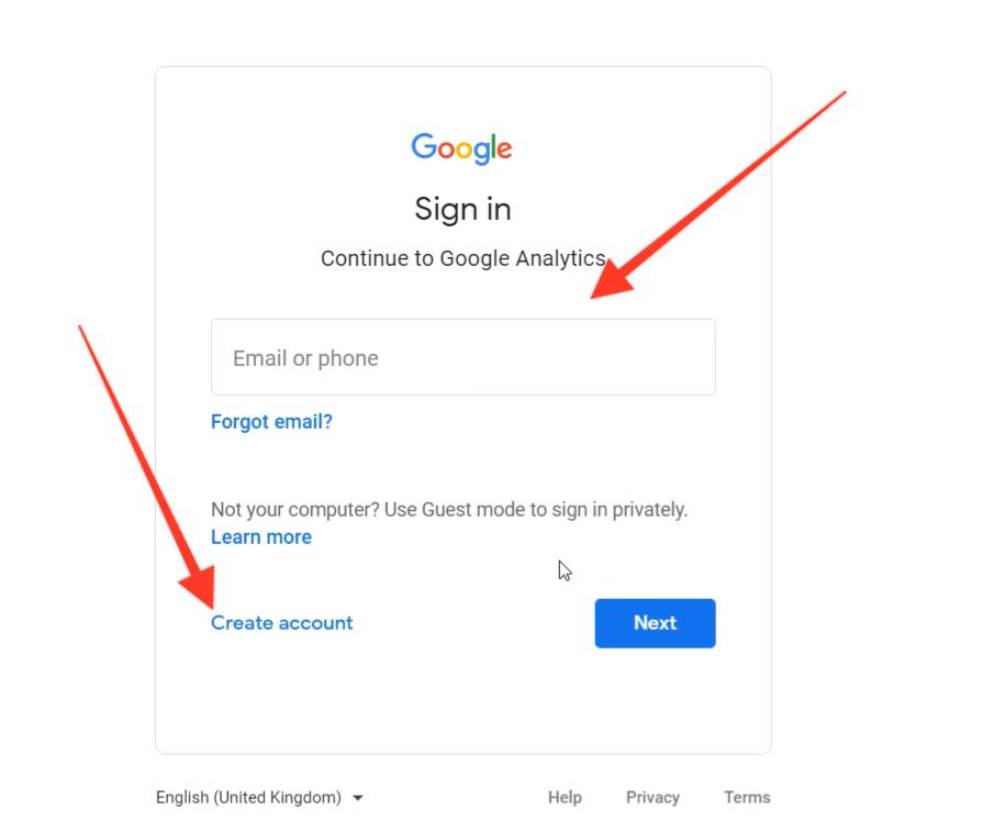 How To Create A Google Analytics Account