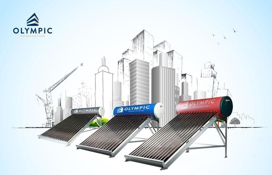 Dàn máy nước nóng năng lượng mặt trời Olympic