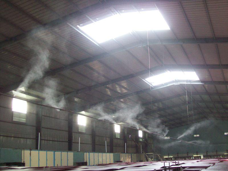 Máy phun sương - Thiết bị ứng dụng rộng rãi của nhiều xí nghiệp