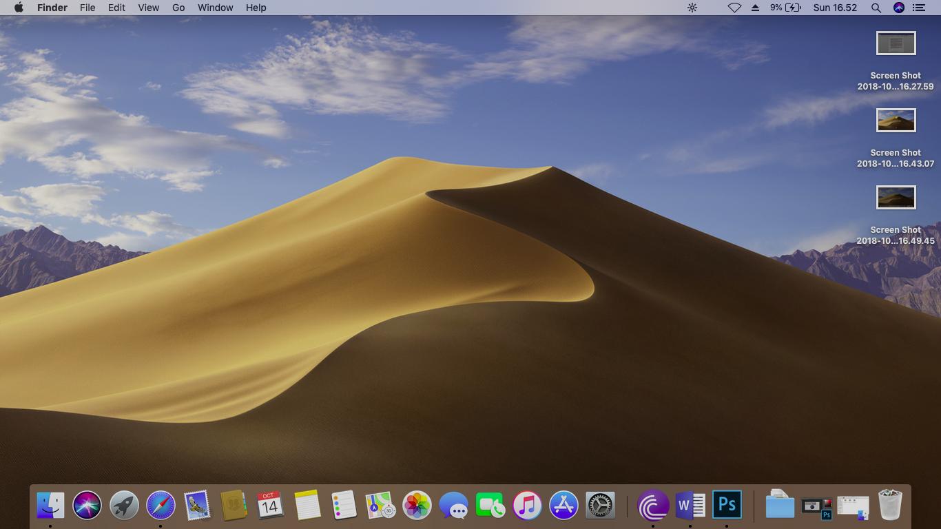 desktop macOS Mojave 10.14 Lenovo g400