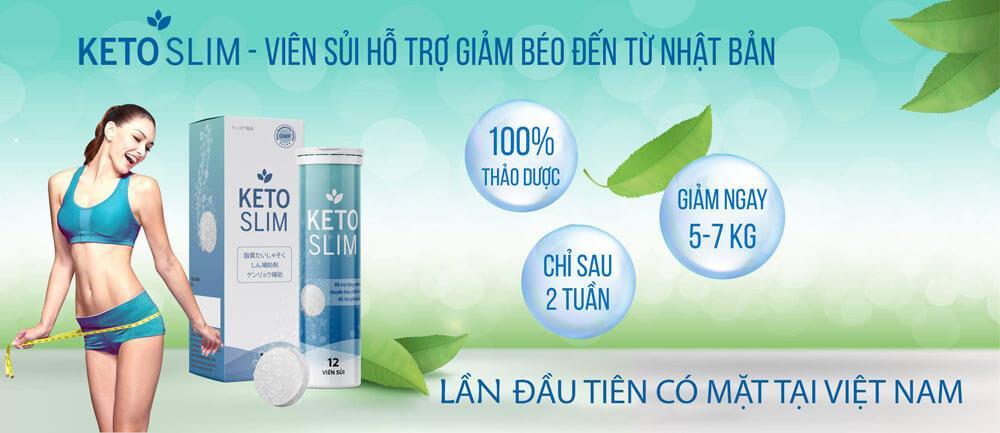 Keto slim viên sủi giúp hỗ trợ giảm béo hiệu quả hàng đầu Việt Nam