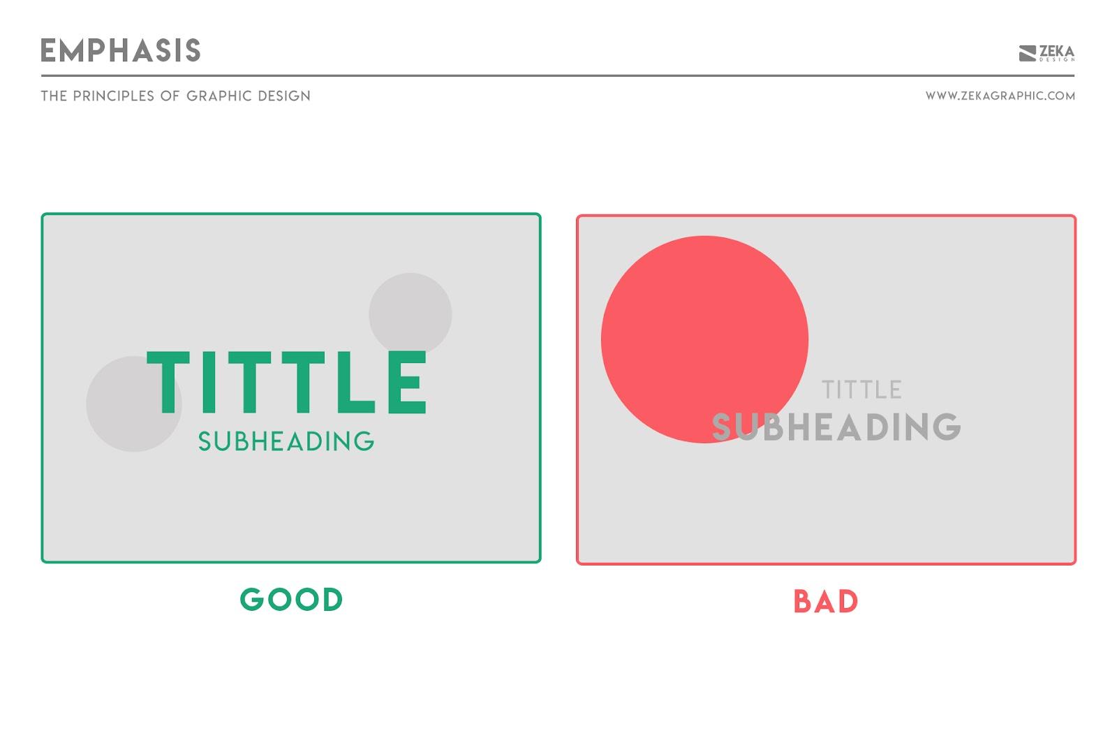 Nguyên tắc nhấn mạnh trong thiết kế đồ họa