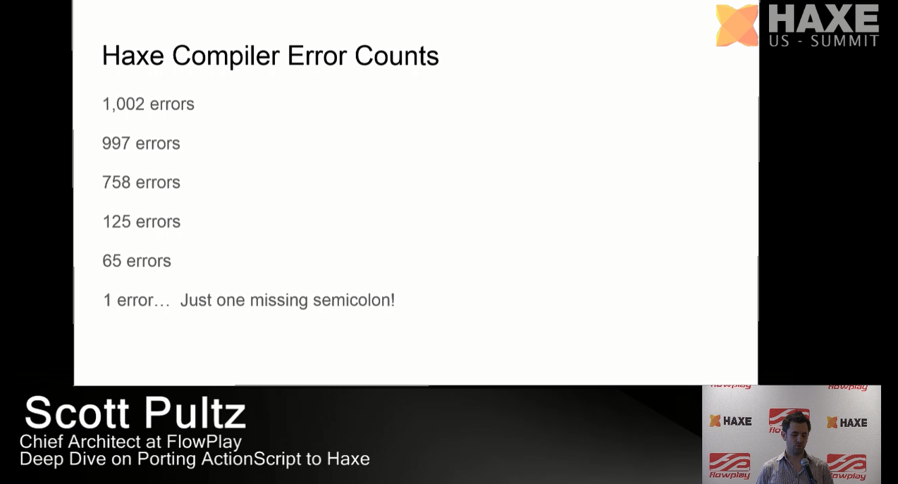 Haxe Compiler Error Counts