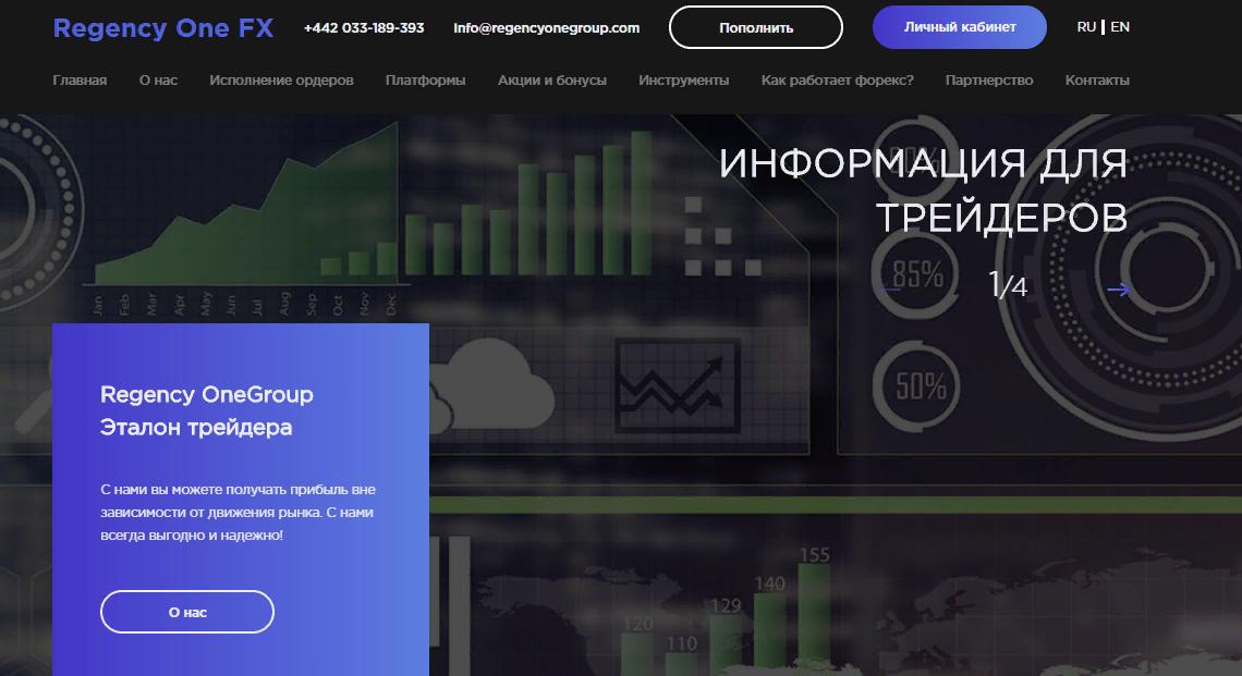 CFD-брокер RegencyOneGroup: обзор компании и честные отзывы о ней