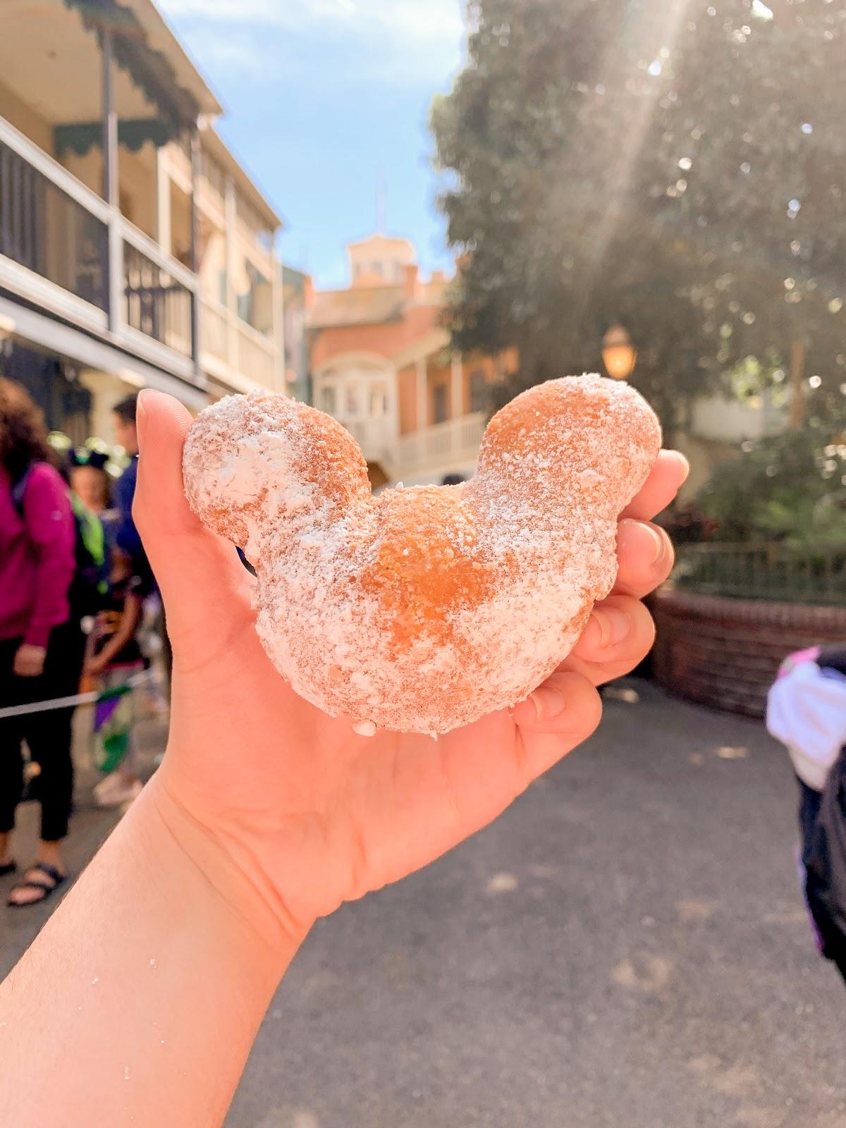 Disneyland Mickey-shaped beignet