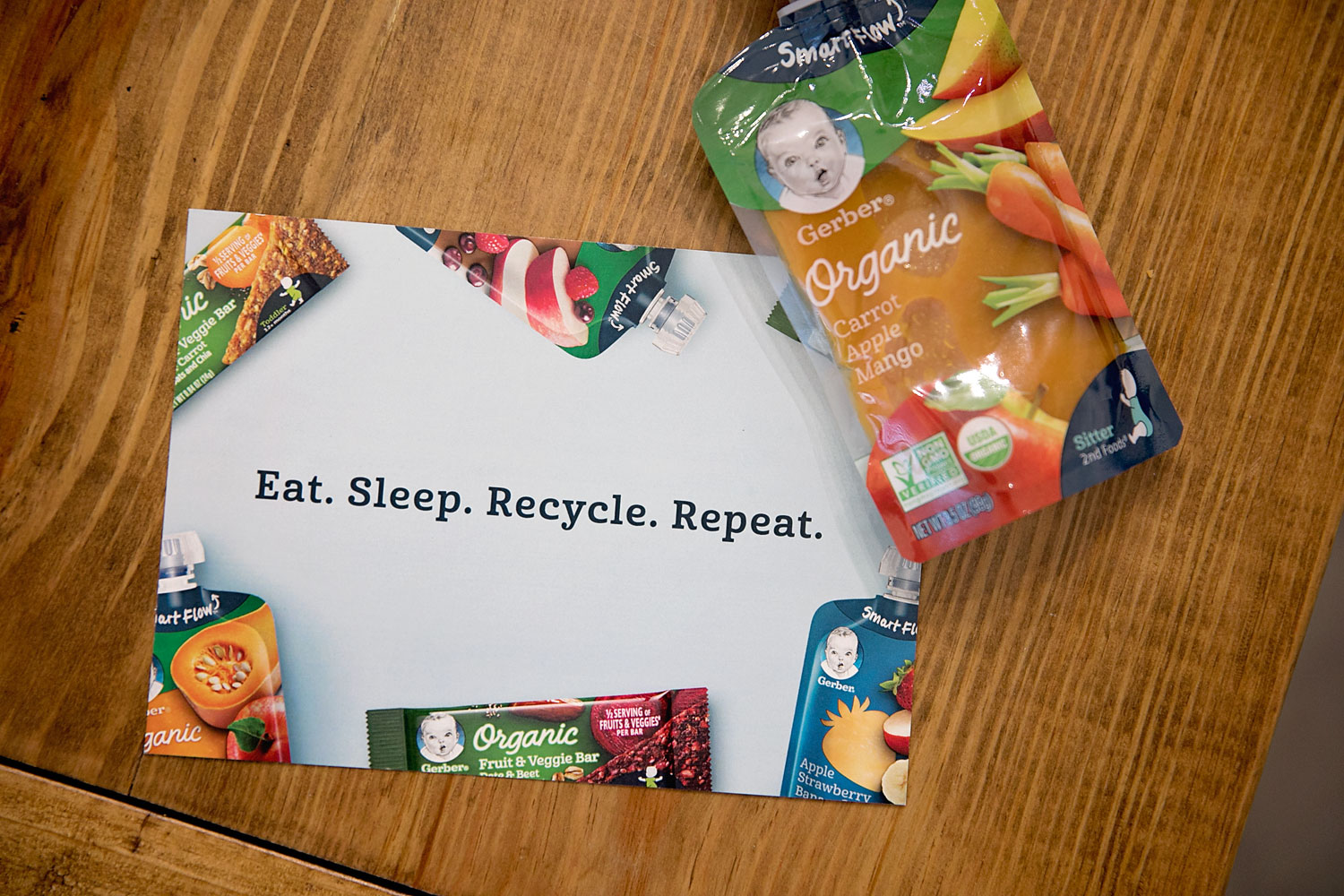 Gerber snacks can be recycled through terracycle