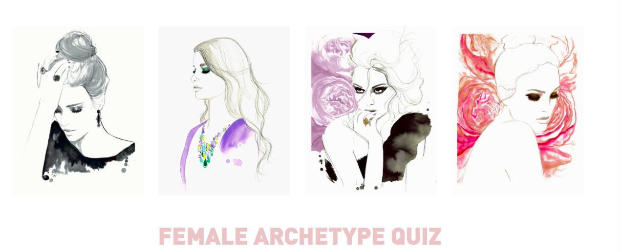 sketches of women with Female Archetype Quiz title