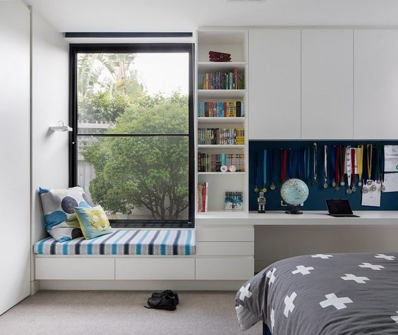 Bedroom Storage Ideas with A Window Seat