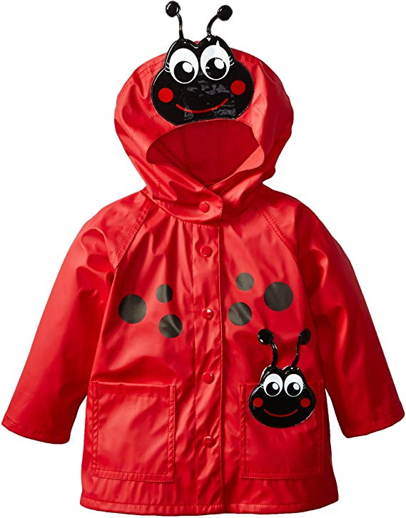 Western Chief Kids Soft Lined Character Rain Jackets, Lucy the Ladybug, 4T