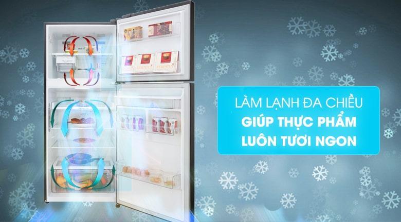 làm lạnh đa chiều giúp thực phẩm luôn tươi ngon