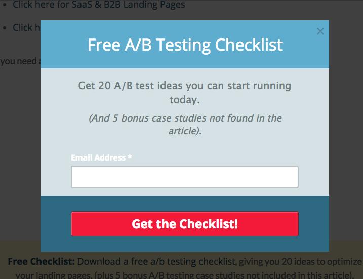 A/B testing checklist