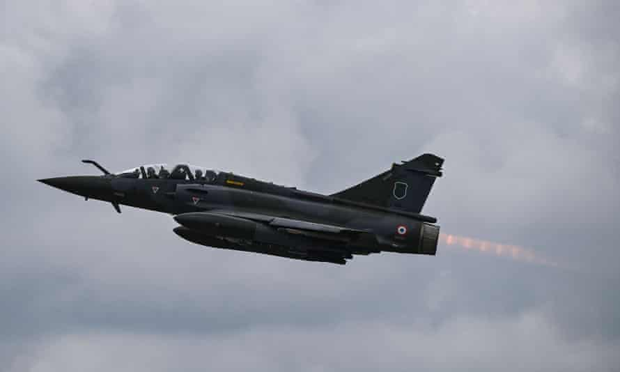 A French air force Mirage 2000D jet.