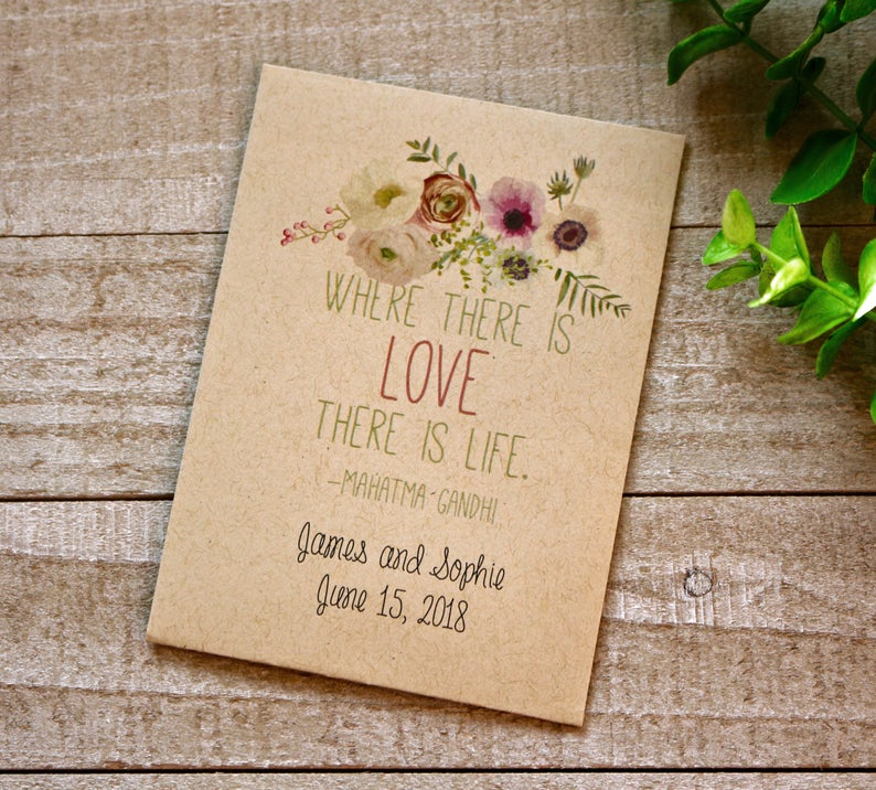 sow the seeds of love - wedding favour ideas