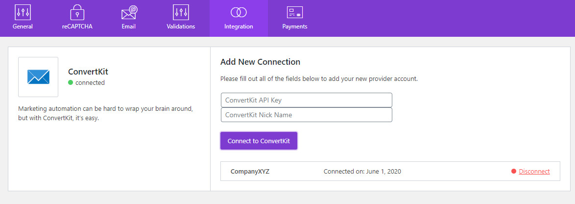 convertkit wordpress connection