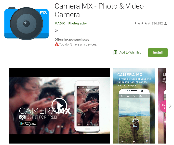Image result for 5) MX CAMERA Apps
